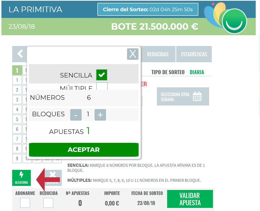 La Primitiva en Lotería Conchita