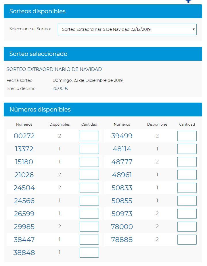 Lotería de Navidad a través de la web de Lotería Conchita