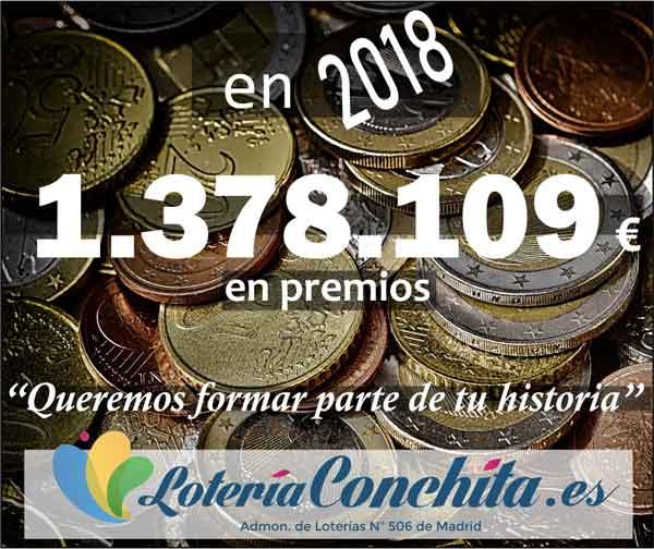 Lotería Conchita, más de un millón de euros en premios en 2018